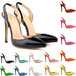 Girls-Womens-Party-Wedding-Patent-High-Heels-Shoes-Sandals-Size-2-3-4-5-6-7-8-9