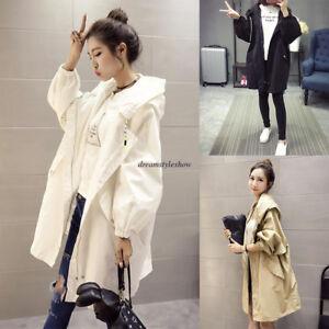 Plus-Women-Casual-Hooded-Loose-Parka-Trench-Long-Summer-Windbreaker-Coat-Outwear