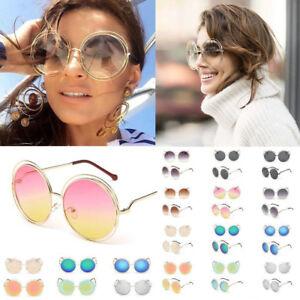 5ad8e7db7b2 Image is loading Retro-Big-Oversized-Round-Sunglasses-Fashion-Women-Large-