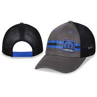 Mopar Striped Gray And Black Mesh Hat Trucker Style, Unstructured