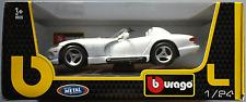 Bburago - Dodge Viper RT/10 weiß mit blauen Streifen 1:24 Neu/OVP Modellauto