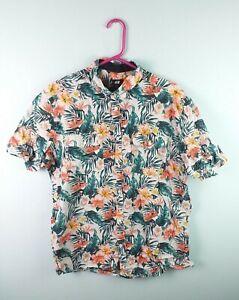 nuovo concetto 1d789 38e15 Dettagli su H&M Uomo Retro Floreale Luminoso Grassetto Aztec Crazy Navajo  camicia hawaiana in buonissima condizione UK XL- mostra il titolo originale