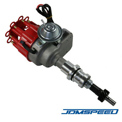 JDMSPEED New HEI Ignition Red Cap Distributor w//65K Coil Fit For SBF Ford Small Block 260 289 302