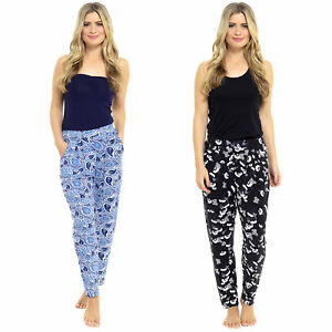 Ladies-Trousers-Womens-Harem-Pants-Casual-Comfort-Stretch