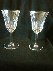 St-Louis-Cut-Crystal-Claret-Wine-Glass-Cerdagne-set-2-pieces-7-034-tall