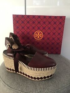 AUTHENTIC-Tory-Burch-Dandy-Leather-Espadrille-In-Port-Royal-Sz-6