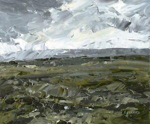 North-Yorkshire-Moors-ORIGINAL-LANDSCAPE-PAINTING-Dramatic-Sky-Steve-Greaves