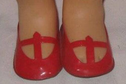 """fit many 14-16/"""" Dolls Vintage MATTEL SINGING CHATTY RED T STRAP SHOES"""