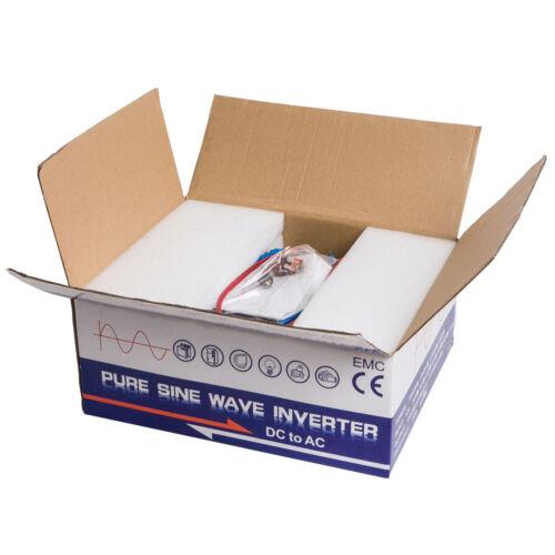 300W Pure Sine Wave Power Inverter Solar Panel 12//24V to 120//240V Remote Control