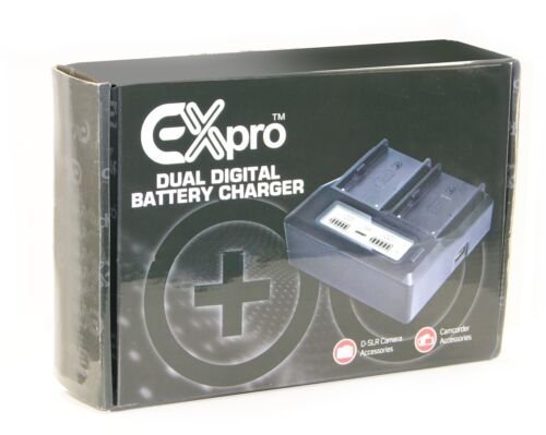 NB7L Ex-Pro® Canon CB-2LZE DUAL LCD Mains Battery Charger for NB-7L