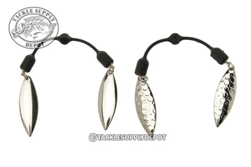 TSD Twin Blade Collar System Double Willow Leaf Silver 2pk Pick