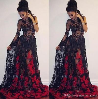 New Evening Prom Dresses Black \u0026Red