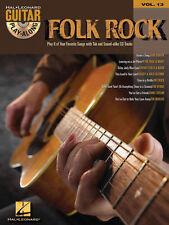 Folk Rock Guitar Play Along 8 Songs! Tab Book Cd NEW!