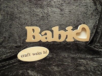 Babi MDF Photo Frame Sign Freestanding Wooden  Welsh Word 18mm Words CYMRU