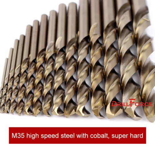 "10PCS 9//32/"" Cobalt Drill Bit Set M35 HSS Jobber Length Twist Drill Bits Tools"