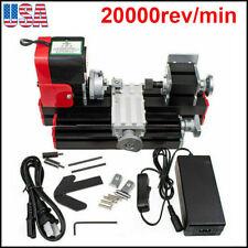 Mini Miniature Multifunction Diy Metal Motorized Lathe Machine 20000rmin Usa