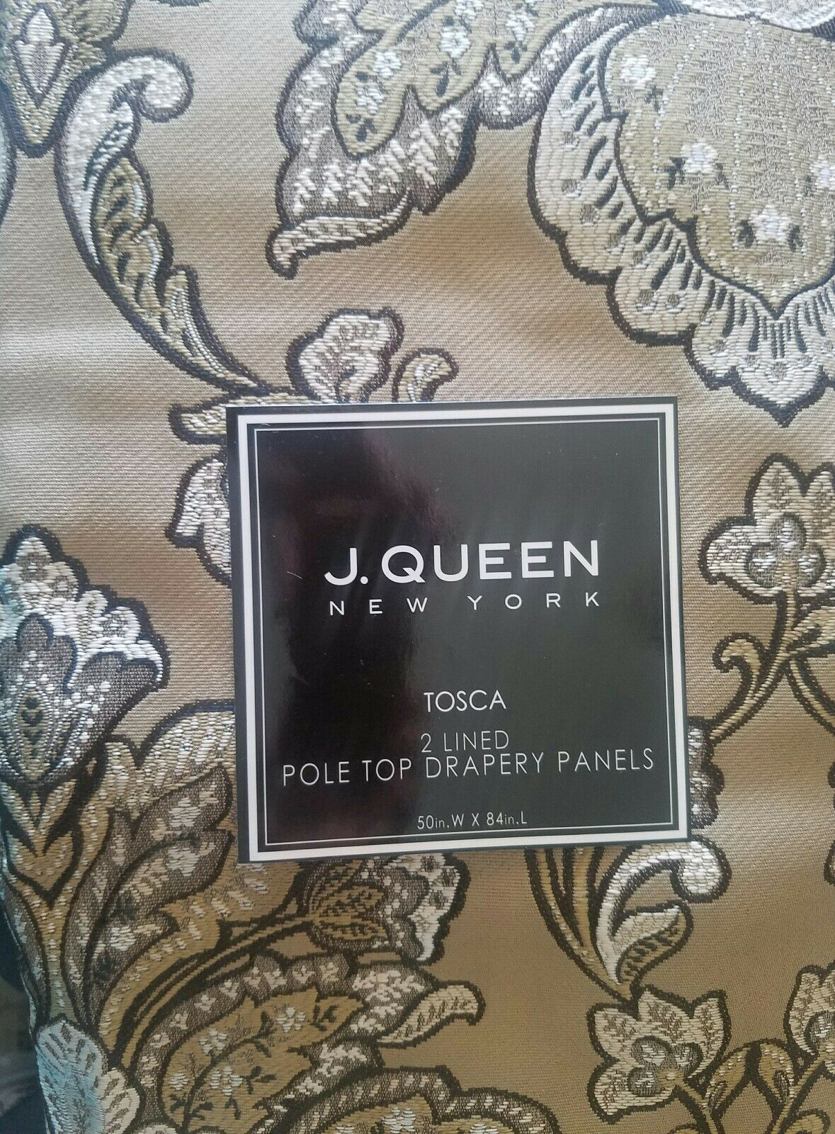 NEW J QUEEN TOSCA TUSCAN  2  POLE TOP DRAPERY PANELS DRAPES 84
