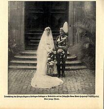 Vermählung Prinz Eugen v.Oettlingen & Prinzessin Hohenlohe-Schillingsfürst 1916