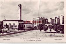"""RPPC CASABLANCA  Les Services Municipaux et l'Immeuble de la """"Nationale"""" 1953"""