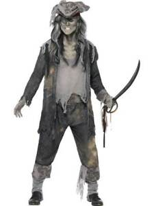 Image is loading MENS-GHOST-PIRATE-SHIP-GHOUL-FANCY-DRESS-COSTUME-  sc 1 st  eBay & MENS GHOST PIRATE SHIP GHOUL FANCY DRESS COSTUME DEAD SEA DOG ...