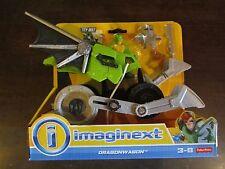 Fisher Price Imaginext Dragonwagon Lizard man serpent helmet gun knight New Box
