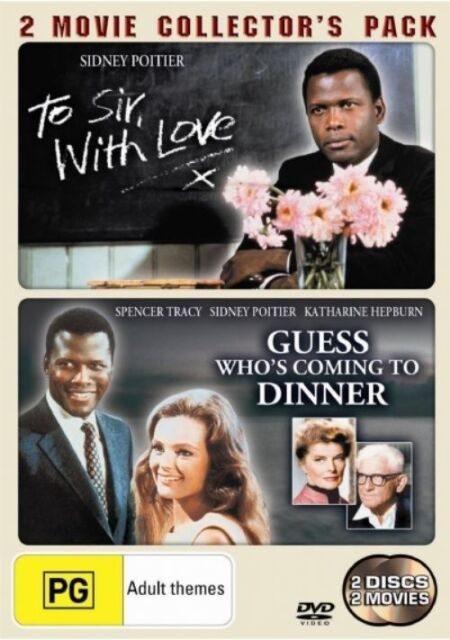Guess Who's Coming To Dinner/To Sir, With Love DVD 2-MOVIES TOP 500 BRAND NEW R4