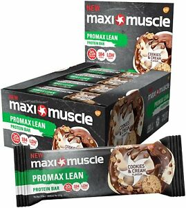 12-x-Maximuscle-Promax-Lean-20g-Protein-Snack-Cookies-Cream-Vitamin-Bars-Bar-55g