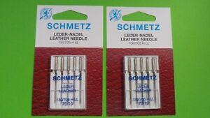 5 Schmetz Leder-Nadeln Stärke 110 für Nähmaschinen