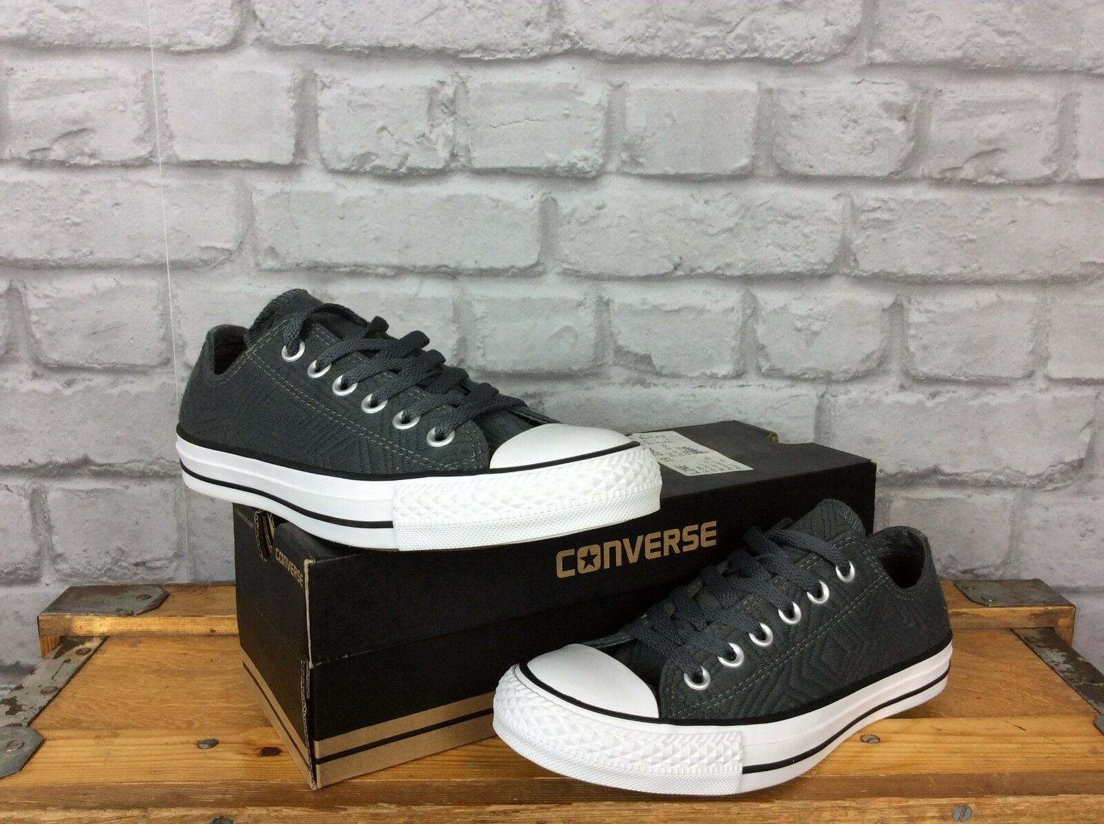 CONVERSE UK 5 EU 37.5 GREY CHUCK TAYLOR ALL STAR DARK GREY 37.5 JERSEY QUILT OX TRAINERS abecaa
