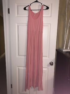 Pinkblush Maternity Pink Tank Maxi Dress Medium Ebay