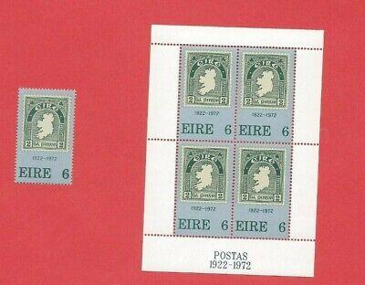 Schneidig Irland Block 1-50 Jahre 1922-1972 Postfrisch Plus Einzelmarke Top Norwegen