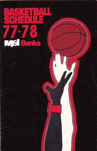 1977-78 MILWAUKEE BUCKS AND WARRIORS AND BADGERS BASKETBALL POCKET SCHEDULE