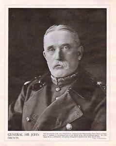 1914 Imprimé Première Guerre Mondiale ~ Général Sir John French Command De dG10dLC8-09170649-816476042