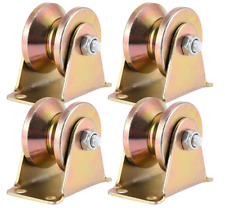 Zeonhak 4 Pcs 2 V Groove Wheel 1045 Steel Anti Electroplated Corrosion Sliding