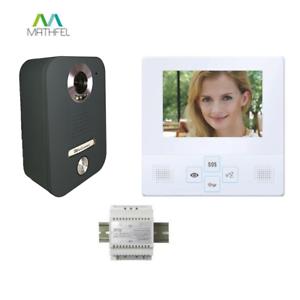 Anthracite 4 in Moniteur LCD Türsprechanlage sonnette interphone vidéo