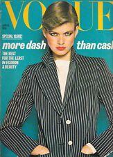 1977 April VOGUE vintage fashion & beauty 40th birthday James Bond Slick Willies