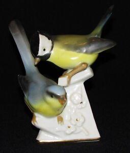 Mesanges En Porcelaine Polychrome Très Bon état / Oiseaux Ghhwztcm-07220335-971915908