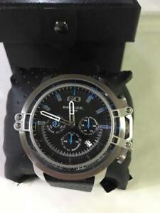 DZ4408-Diesel-Men-039-s-Deadeye-Stainless-Steel-Black-Leather-Watch
