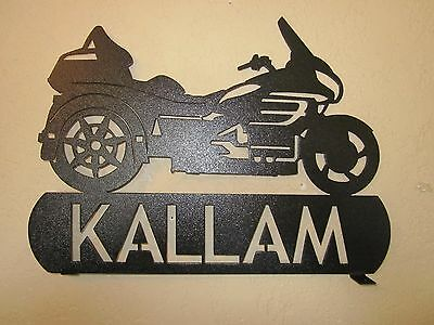 YOUR NAME CUSTOM GOLDWING TRIKE MOTORCYCLE MAILBOX TOPPER