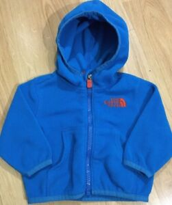 81fbc6bc6 The North Face Fleece Baby Toddler Size 3-6 Months Blue And Orange ...