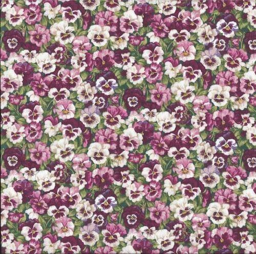 Makower Stiefmütterchen Rosa Patchworkstoff Baumwollstoff Stoff Patchwork Blumen