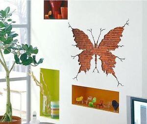 Schmetterling 3d xxl kinderzimmer wohnzimmer wandtattoo wandsticker aufkleber ebay - Wandsticker wohnzimmer ...