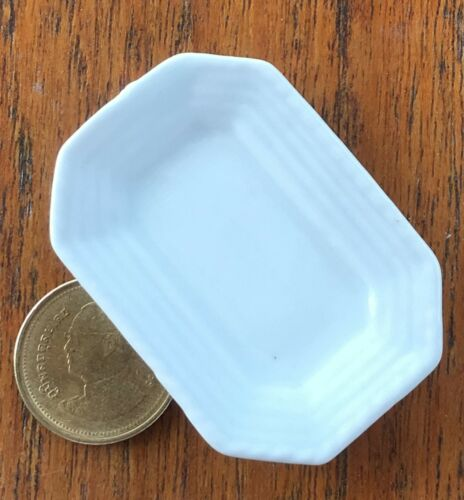 Escala 1:12 porción placa de cerámica blanca 5cm X 3.7cm tumdee Casa De Muñecas W110