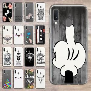 Samsung-Galaxy-A20-A20e-Cover-Case-Phone-Cover-Curb-Silicone-Glass-Of
