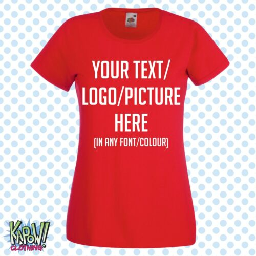 Custom Personalised Womens//Ladies Printed T-SHIRT Hen Party Gift-Your text//logo3