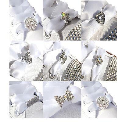 Crystal Rhinestone Shoe Charms \u0026 White