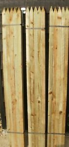 Details About 100 X 12m 4ft Tall X 32mm Square Wooden Treated Tree Garden Fence Stakes Wood