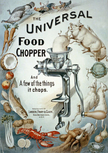 "AD34 Vintage Universal Food Chopper Advertising Poster A3 17/""x12/"" Re-print"