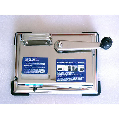 Zigarettenstopfmaschine Zigaretten Hülsen Tabak Zigarettenmaschine Metall Chrom
