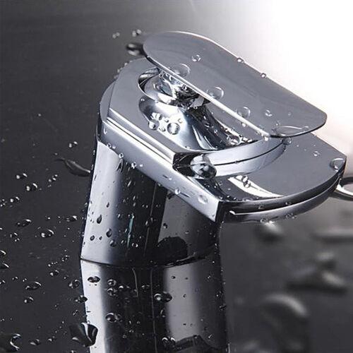 New Waterfall Chrome Bathroom Single Lever Basin Sink Mono Water Mixer Tap